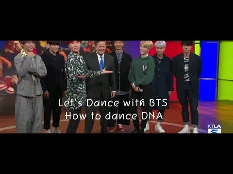 BTS Teaching how to dance DNA while interview