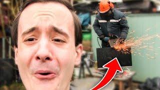 experiment chainsaw vs matts monitor prank
