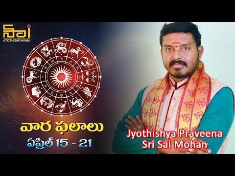 Astrologer Sai Mohan Kumar about Rashi Phalalu | Weekly Horoscope Telugu | April 15th to April 21st