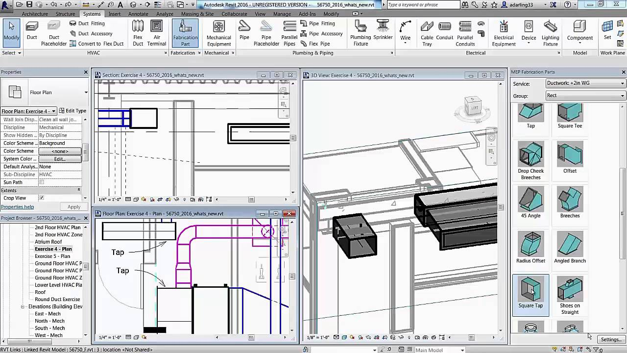 Revit 2016 Duct Part Editor For Fabrication Youtube Hvac Drawing Tutorial