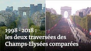 1998 - 2018 : les deux traversées des Champs-Elysée comparées