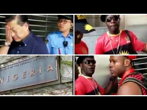 IPOB In Japan At Nigeria Embassy After Waiting For  Buhari without seeing him (Video)