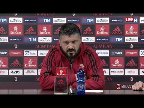 Gattuso conferenza pre Milan - Napoli [FULL HD] 14.04.2018