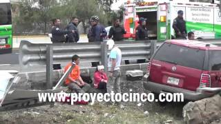 Mujer prensada en la autopista México-Puebla, a la altura de Texmelucan thumbnail