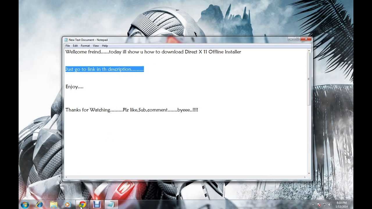 download directx latest version for windows 7 64 bit offline installer