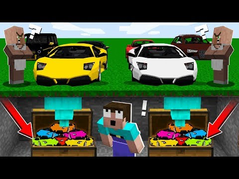 WHY NOOB STEAL A SUPERCARS? in Minecraft : NOOB vs PRO