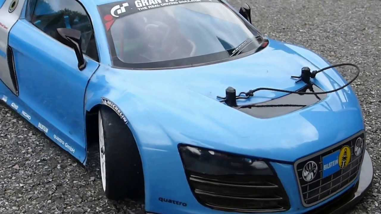 audi r8 drift tamiya trf 415 rc youtube. Black Bedroom Furniture Sets. Home Design Ideas