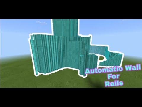 how-to-make-a-automatic-wall-for-rails-in-minecraft-pe-[tutorial]