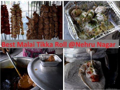 Best Malai Tikka Roll At Nehru Nagar South Delhi Chicken Roll Recipe
