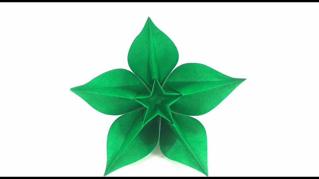 Origami Tutorial How To Fold An Flower Origami Carambola Youtube