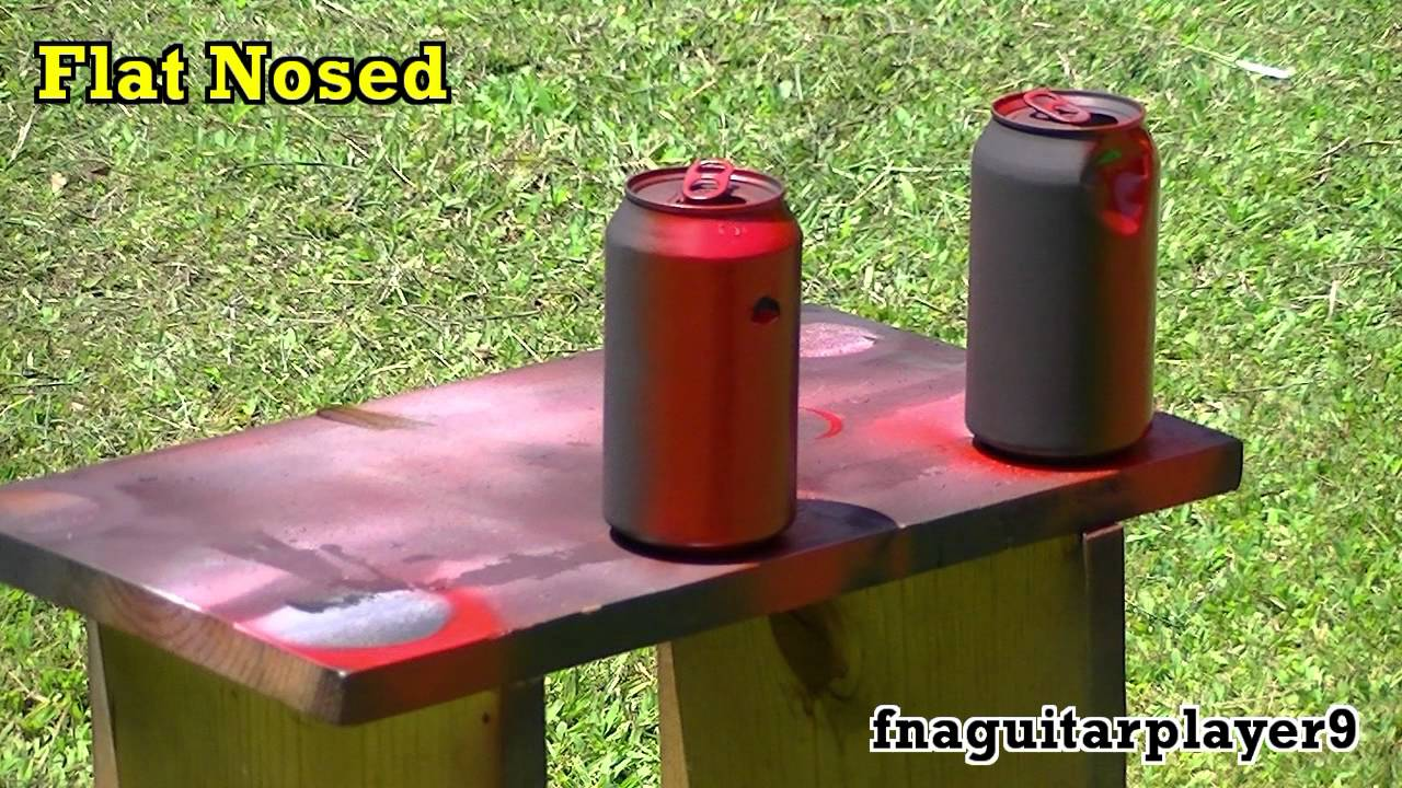 pellet gun: comparison of different types of pellets (pointed vs