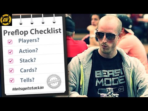 How to Win at Poker - The Pre-Flop Checklist