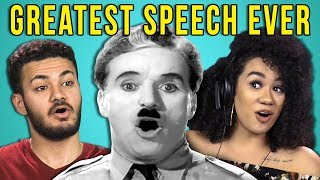 college kids react to the greatest speech ever made the great dictator