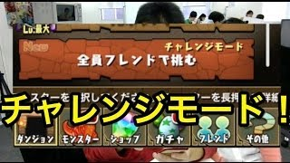 【パズドラ】チャレンジモードで魔法石ざくざく!あとレアガチャ報告! thumbnail