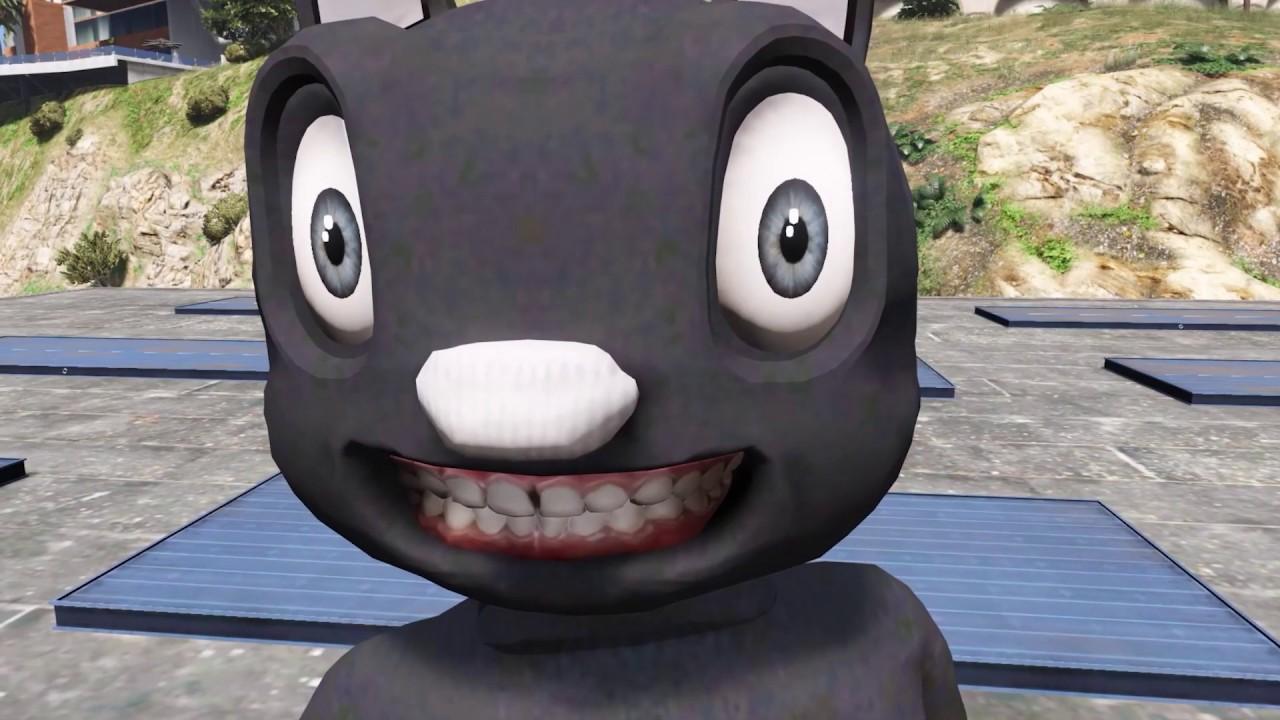GTA 5 Mod – Con Mèo Đen Hài Hước Đụng Mặt Micheal Myers