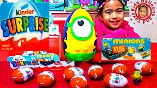 GIANT PLAYDOH SURPRISE Eggs MINION Kinder Surprise Eggs Shopkins Season 2 Kids Balloons and Toys