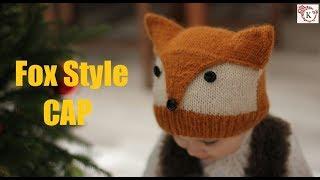 Fox Style Baby Cap Knitting in Hindi
