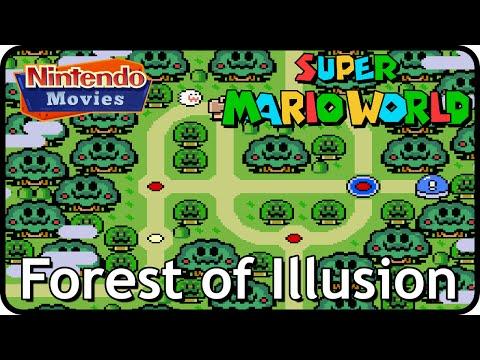 Super Mario World - World 5: Forest of Illusion (Multiplayer Walkthrough,  All Exits)