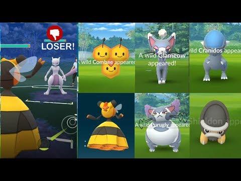 New Faces Of Bug/Normal Sinnoh Pokemon Cranidos, Shieldon, Combee And More!