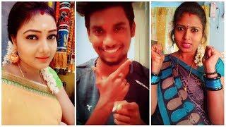 👸 Inji 🔥 Iduppazhagi Song 💘 BGM 😘 Melody | 💞 Tamil Cute Romantic Latest Trending Tik Tok Videos