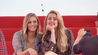 EXCLUSIVE : Amber Heard has her L Oreal session on the beach in Cannes