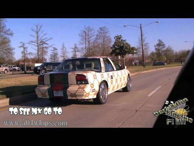 d79e473fdc0 Watch  Youtube Star Turns Old Pickup Truck Into A Giant Gucci Sandal ...