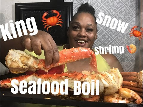 FIRST TIME GRUBBING ON KING CRAB 🦀 SNOW CRAB 🦀  SHRIMP 🍤 ||