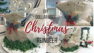 DIY DOLLAR TREE CHRISTMAS REINDEER