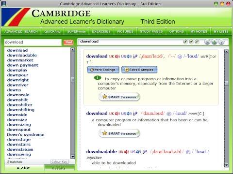 Download Cambridge dictionary