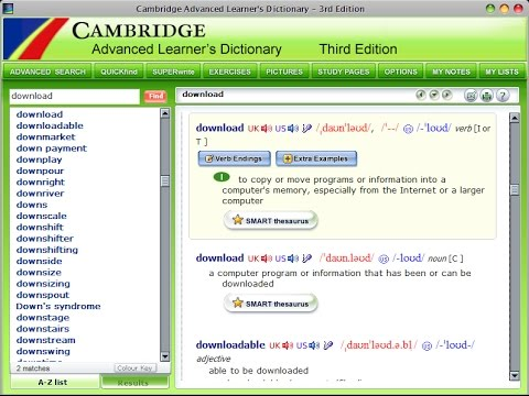 cambridge dictionary software free download pc