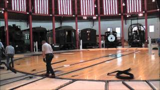 B&O Rail Road Museum turntable in action