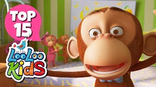 Five Little Monkeys - TOP 15 Songs for Kids on YouTube