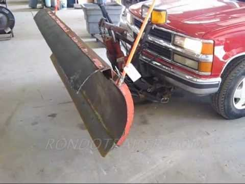7 5 Western Unimount Snow Plow On Tahoe Up80 Sold