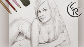 "Drawing ""Hot Girl"" ►► Timelapse"
