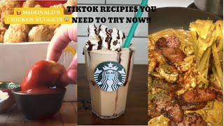 TIKTOK RECIPES YOU NEED TO TRY NOW TIKTOK COOKING COMP THAT WILL GET YOU HUNGRY!