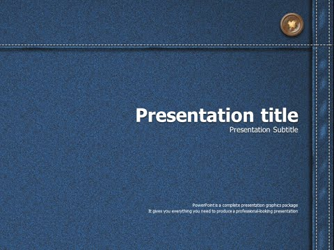 Denim powerpoint template animation youtube denim powerpoint template animation toneelgroepblik Choice Image