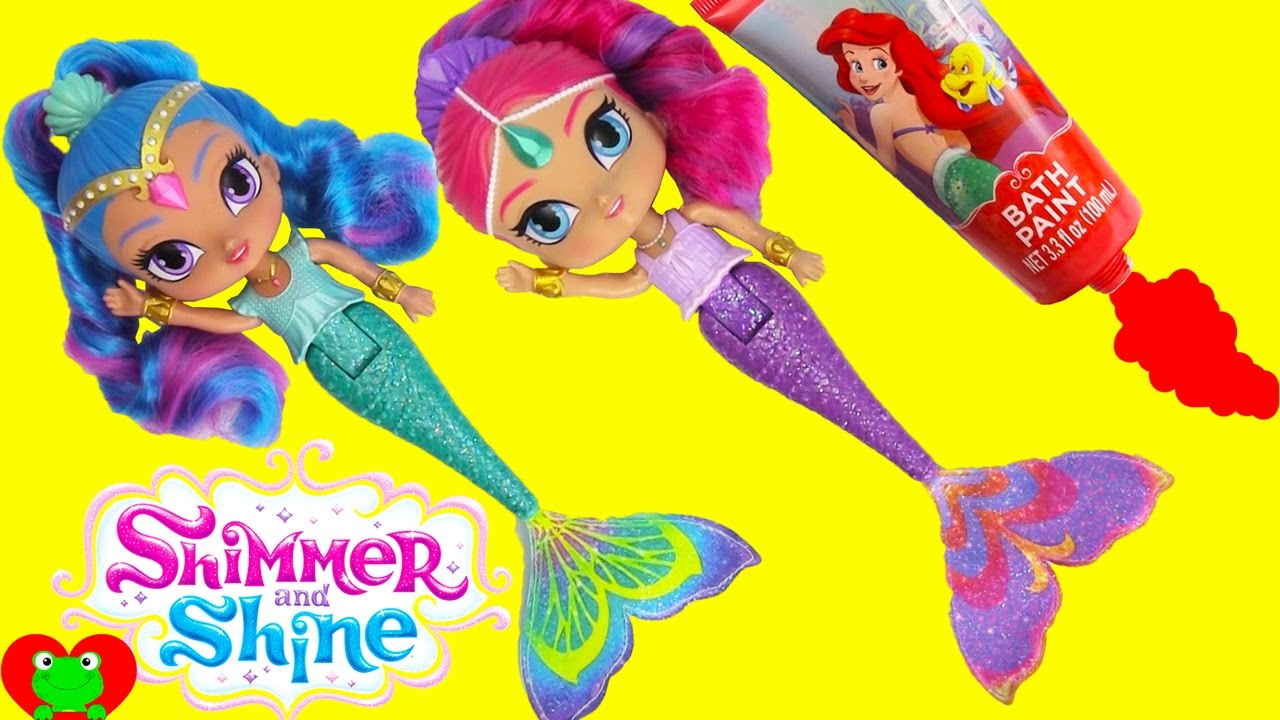 Shimmer and Shine Color Changing Mermaids Dive for Surprises - YouTube 7eb6307adb458