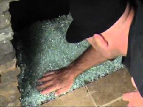 Diamond Fire Glass - Indoor Fireplace Installation - YouTube