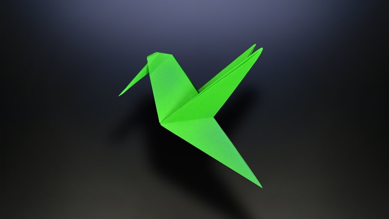 Origami: Hummingbird - Instructions in English (BR) - YouTube - photo#35