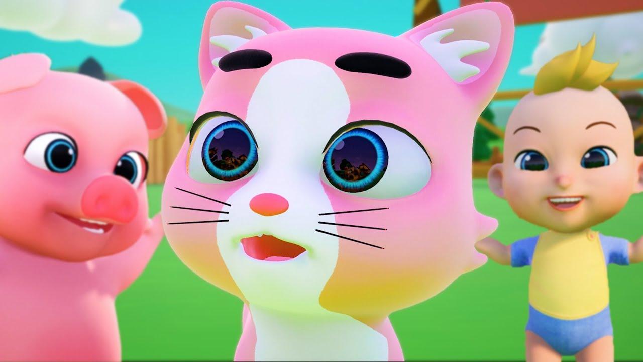 Mèo Tập Thể Dục, Heo Con Ham Ăn, Con Cò Bé Bé - Nhạc Thiếu Nhi Vui Nhộn Sôi Động