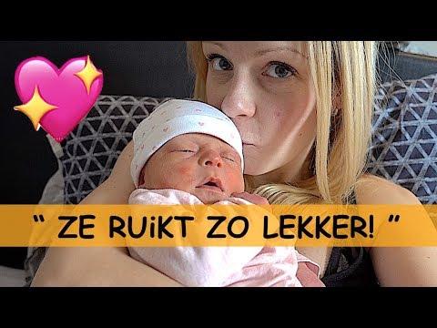 NEWBORN BABY GEURTJE! 👶🌹💞🍼 ( kraamweek dag 3) | Bellinga Familie Vlog #912