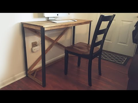 How to Make a Simple Desk with Metal Legs