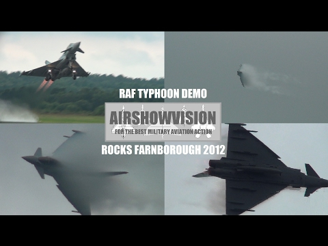 RAF TYPHOON ROCKS FARNBOROUGH 2012 (airshowvision)