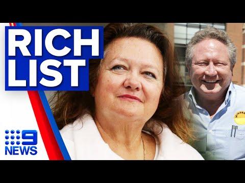 Australia's richest people named for 2020   9 News Australia