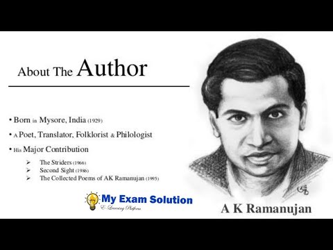 A.K Ramanujan (Hindi) | Great Poet of India