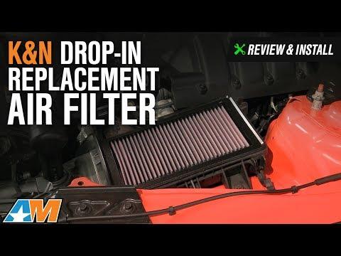 2015-2017 Mustang K&N Drop-In Replacement Air Filter Review & Install