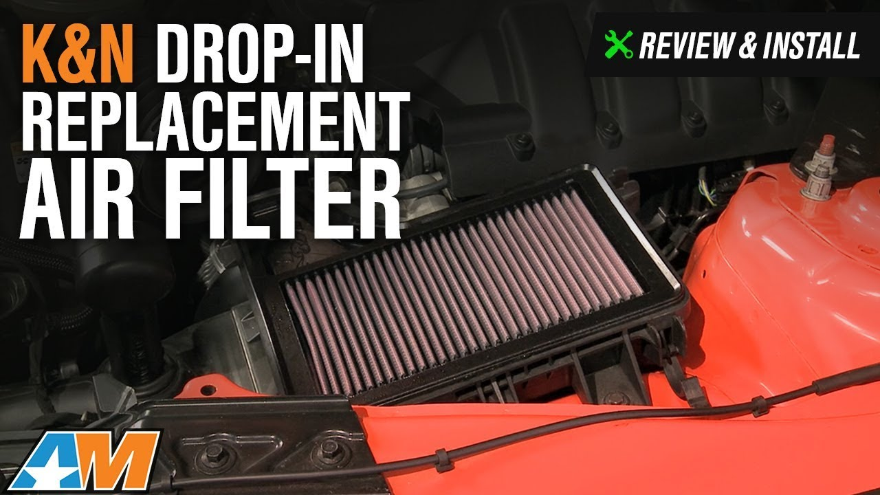 2015 2017 mustang k n drop in replacement air filter review install youtube