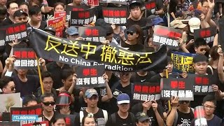 Overzicht mega-demonstraties in Hongkong