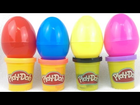 Play doh surprise eggs With Fun Surprise Toys To be Discovered