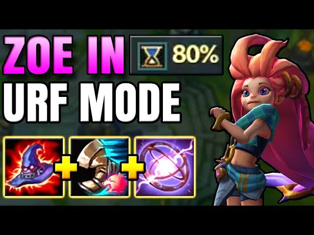 ZOE IS LITERALLY 100x MORE FUN ON URF!! FIRST EVER ZOE URF GAMEPLAY - League of Legends